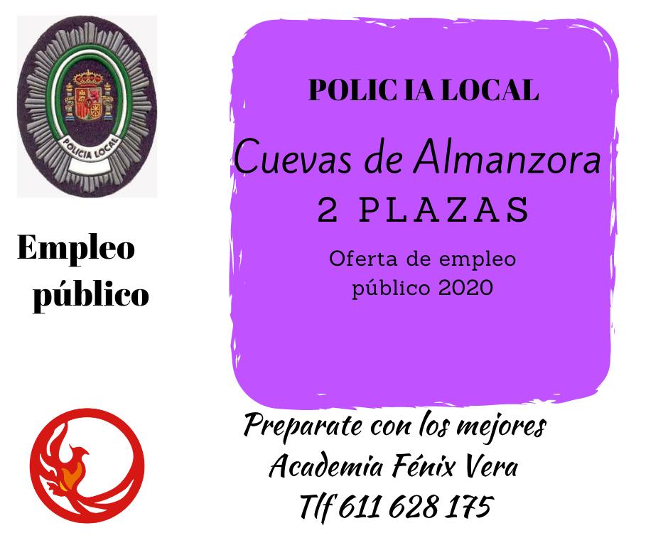 PLAZAS POLICIA LOCAL VERA 2020