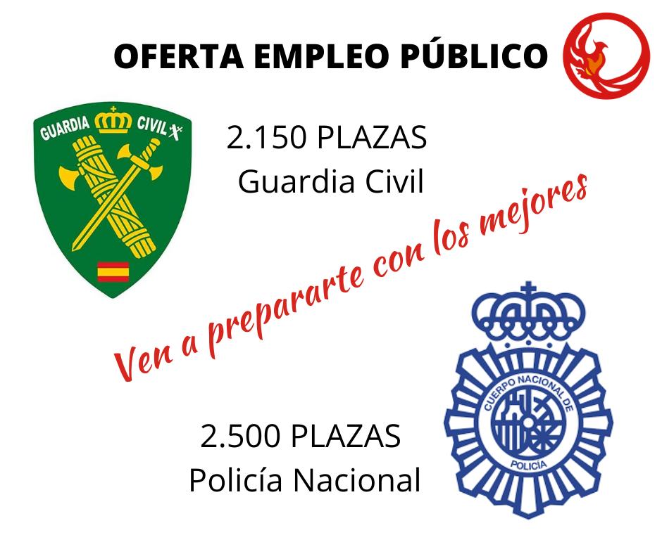 PLAZAS 2020 POLICIA NACIONAL Y GUARDIA CIVIL